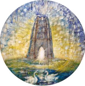 'Glastonbury Tor', painted by RENATA VAN RIJSOORT