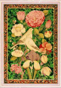 """Love Birds on Green Tinted Gold"", Rana Farhan"