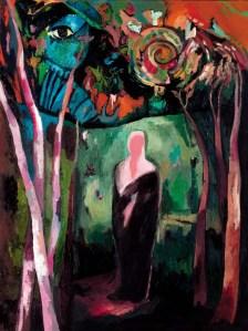 'Leyla'lı Mecnun', painting by Işıl S. Gönen