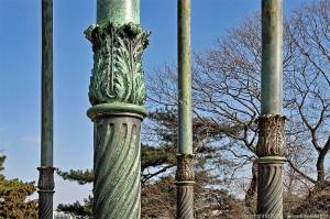 Columns from the 'Gloriette' du jardin des Plantes in Paris. Detail.