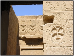 Coptic graffiti in Philae