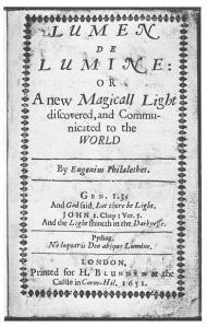 Thomas Vaughan, 'Lumen de Lumine'-Facsimile title page.