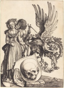 Albrecht Dürer- 'Coat of Arms with a Skull'.