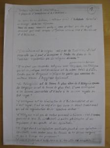 Quelques reflexions de Louis Cattiaux a propos de l'hermetisme et de l'Alchimie, choisis par Charles d'Hoogvorst. Page 1