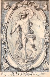 Mercure, d'après Hendrick Goltzius, 1597