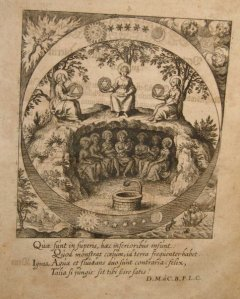 Engraving by Lucas Jennis, in the 'Dyas Chymica Tripartita', 1625.