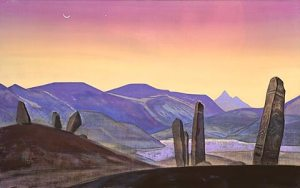 'The Black Gobi', painting by Nicolas Roerich. 1928.