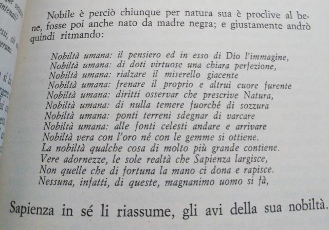 La noblesse de l'homme_Italien